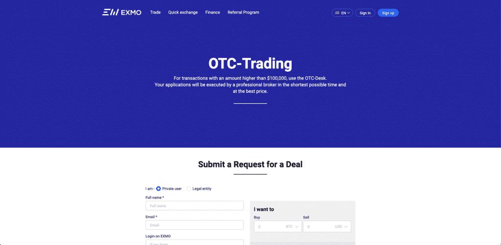 EXMO european otc broker