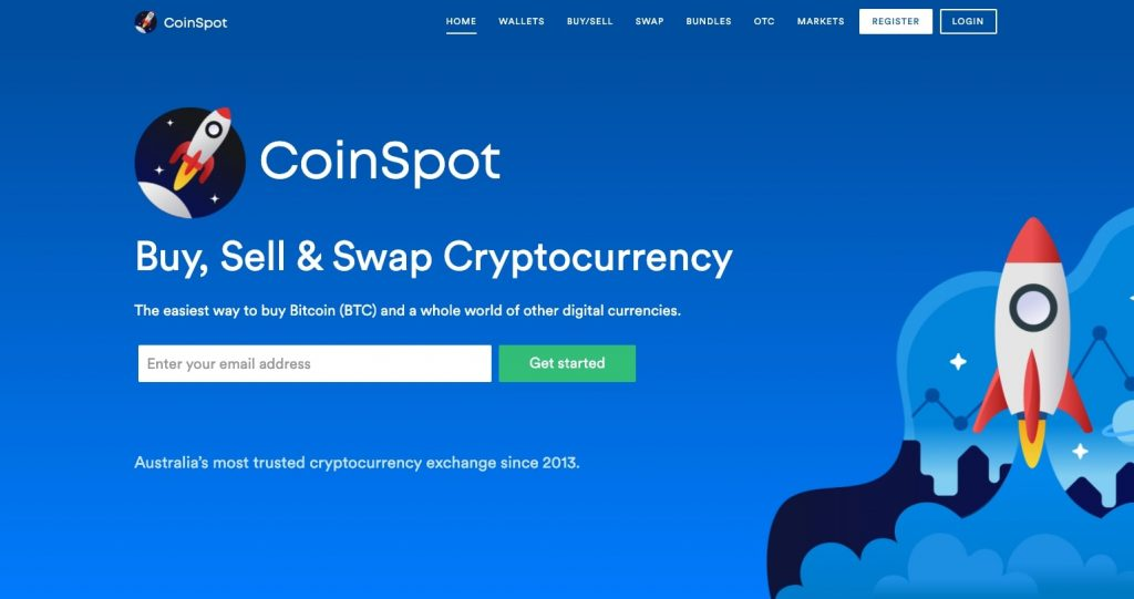 Coinspot home page