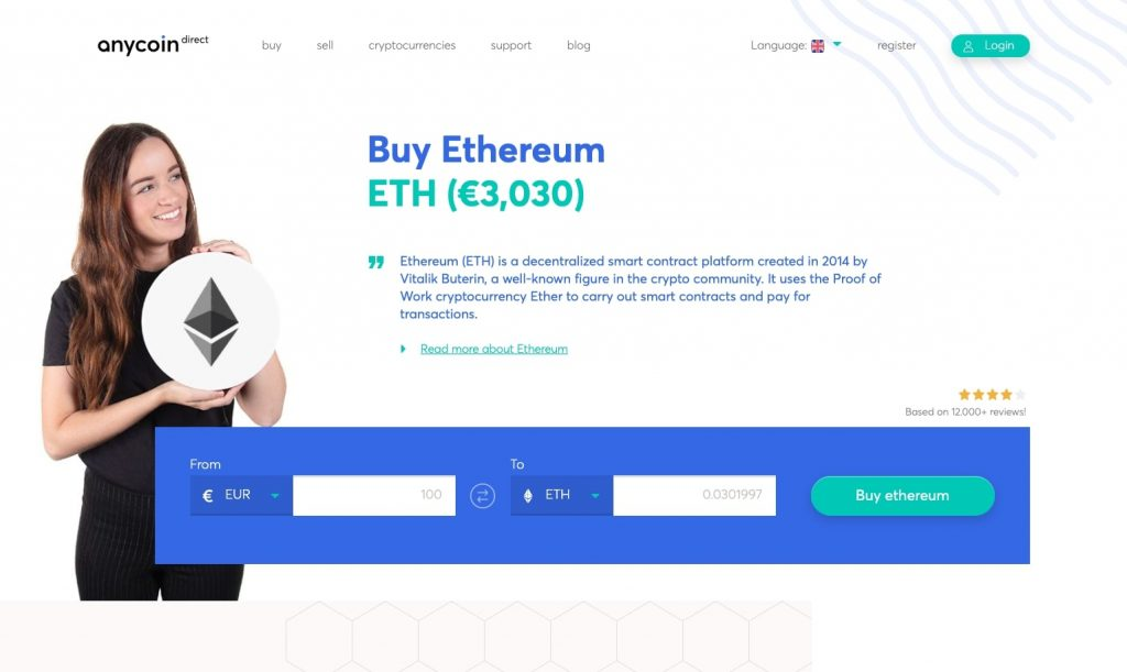 Anycoin direct home page