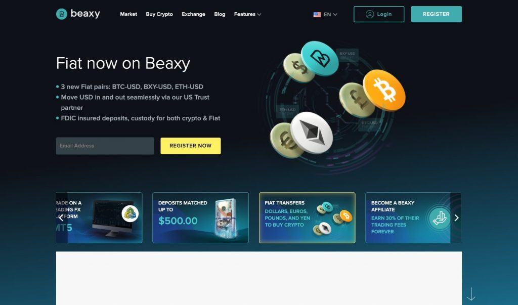 beaxy home page